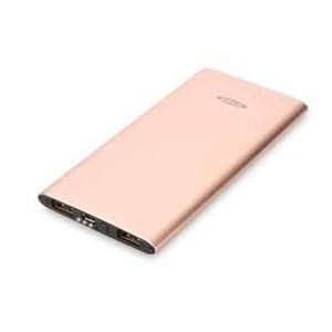 Power Bank Aluminum Capacity. 5.000 mAh, 2 USB ports 1x1A,1x 2.1A, color. rose gold