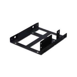 Mounting KIT. Dual SSD/HDD 2.5 - 3.5 BAY Incl. Mounting Frame, Metal Black, Screws Material. Metal