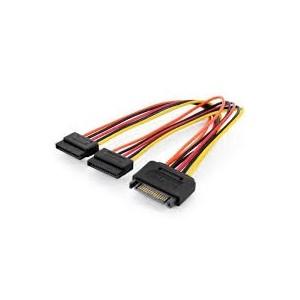 Internal Y-power supply cable M/F/F, 0.3m, SATA 15-pin - 2x SATA 15-pin,