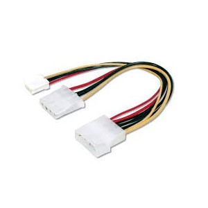 Internal Y-power supply cable 0.20m, IDE - IDE + floppy connector,