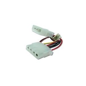Internal power supply cable 0.30m, IDE - IDE + 3pin cooler connector,