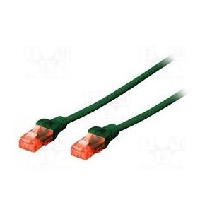 CAT 5e U-UTP patch cable, PVC AWG 26/7, length 0.5 m, color green