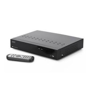 DIGITUS Plug&View NVR, 4 channels 720p, compatibleto Plug&View System and ONVIF 10/100Mbps,2 x USB2.0,10W