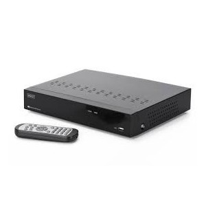 DIGITUS Plug&View NVR, 4 channels 720p, compatible to Plug&View System and ONVIF, 2 x USB2.0,10W, incl. 1TB HDD